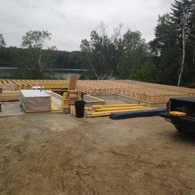 Framing the main floor of a custom home