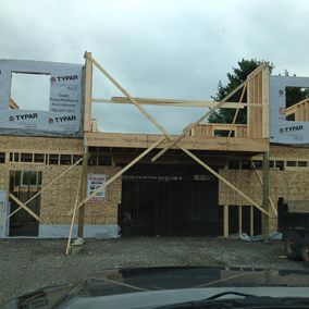 Framing a custom home